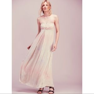 Free People | Strapless Natural Drift Away Maxi